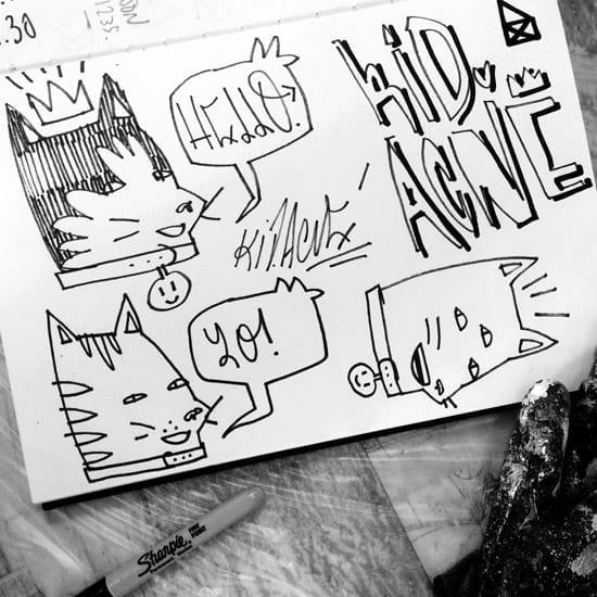 KidAcne_SketchbookCats